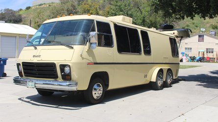 One-Off GMC MotorHome Car Hauler Conversion Hits Bring A Trailer
