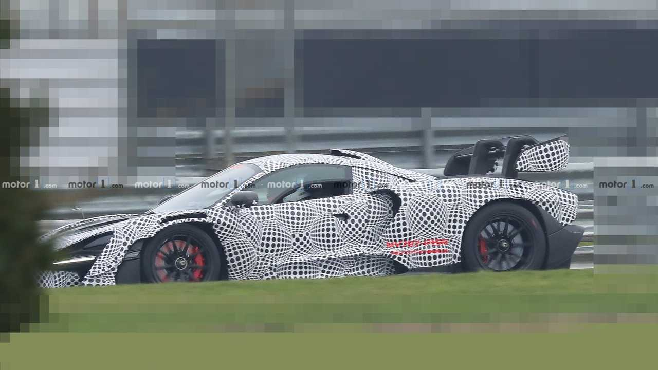 McLaren Senna GTR spy photo