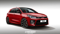 2018 Kia Rio GT speculative render
