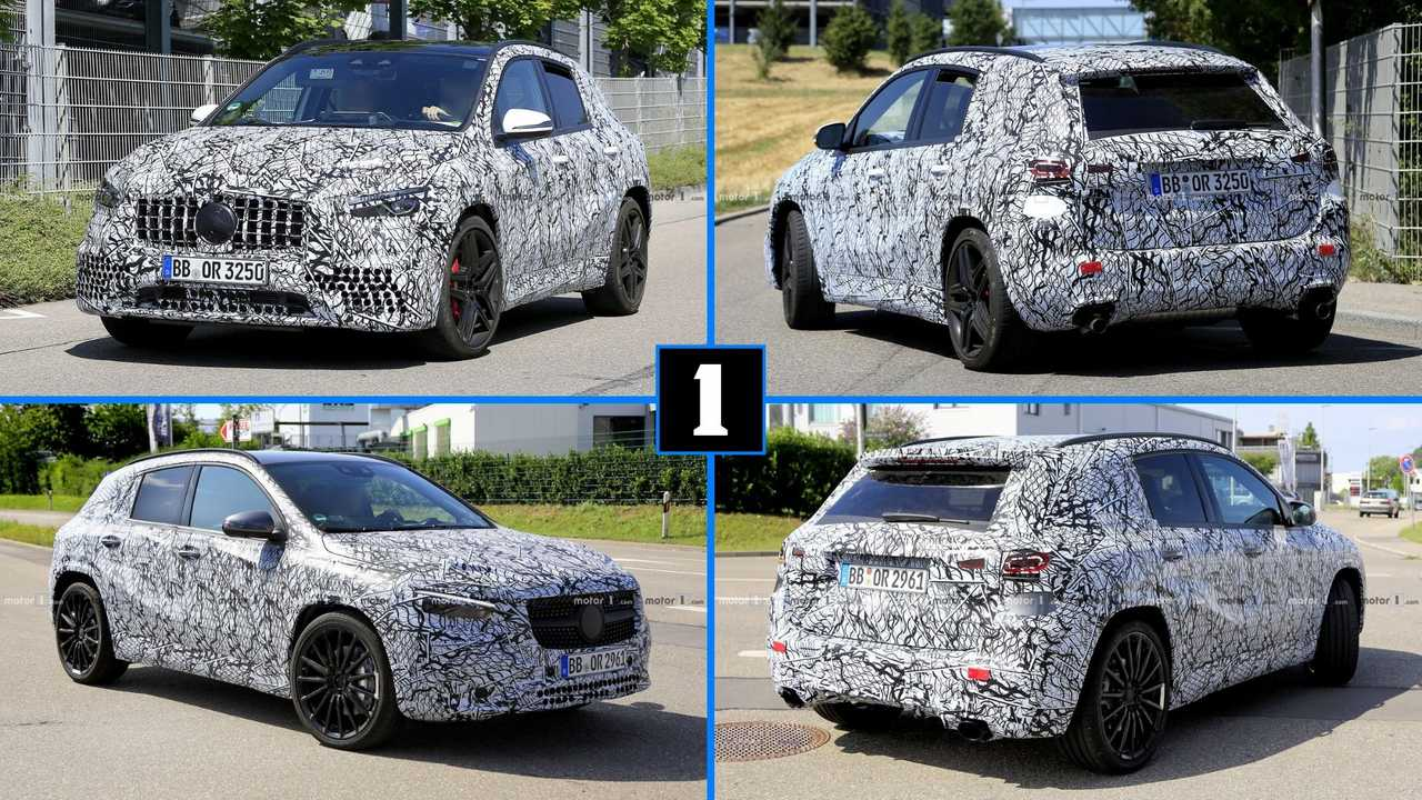Next-gen Mercedes-AMG GLA 35 and GLA 45 spy photos