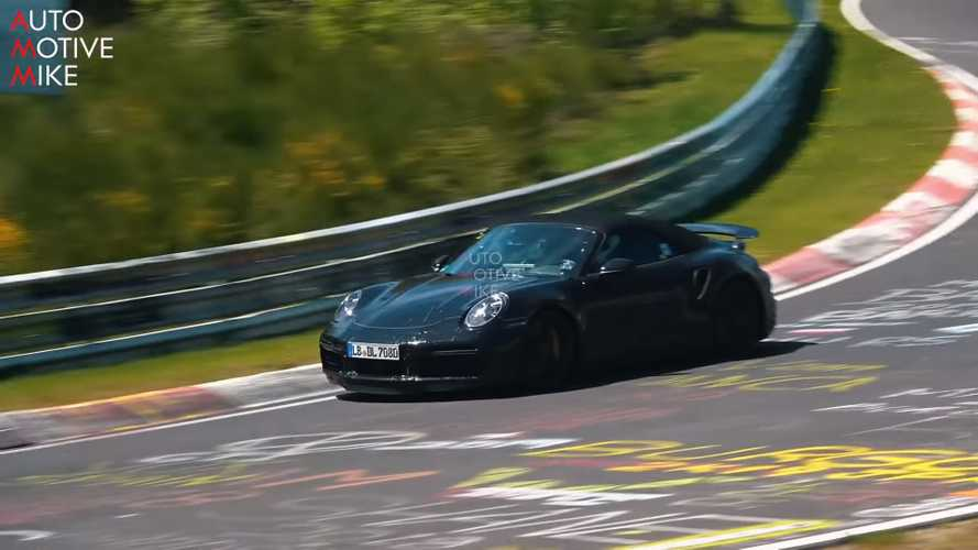 Porsche 911 Turbo S Cabrio Nürburgring'de gazlıyor