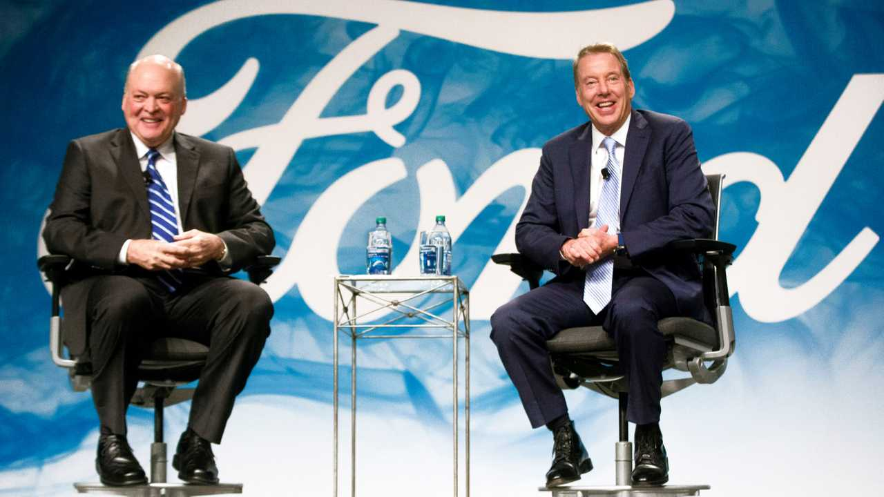 Ford CEO Jim Hacket And Bill Ford