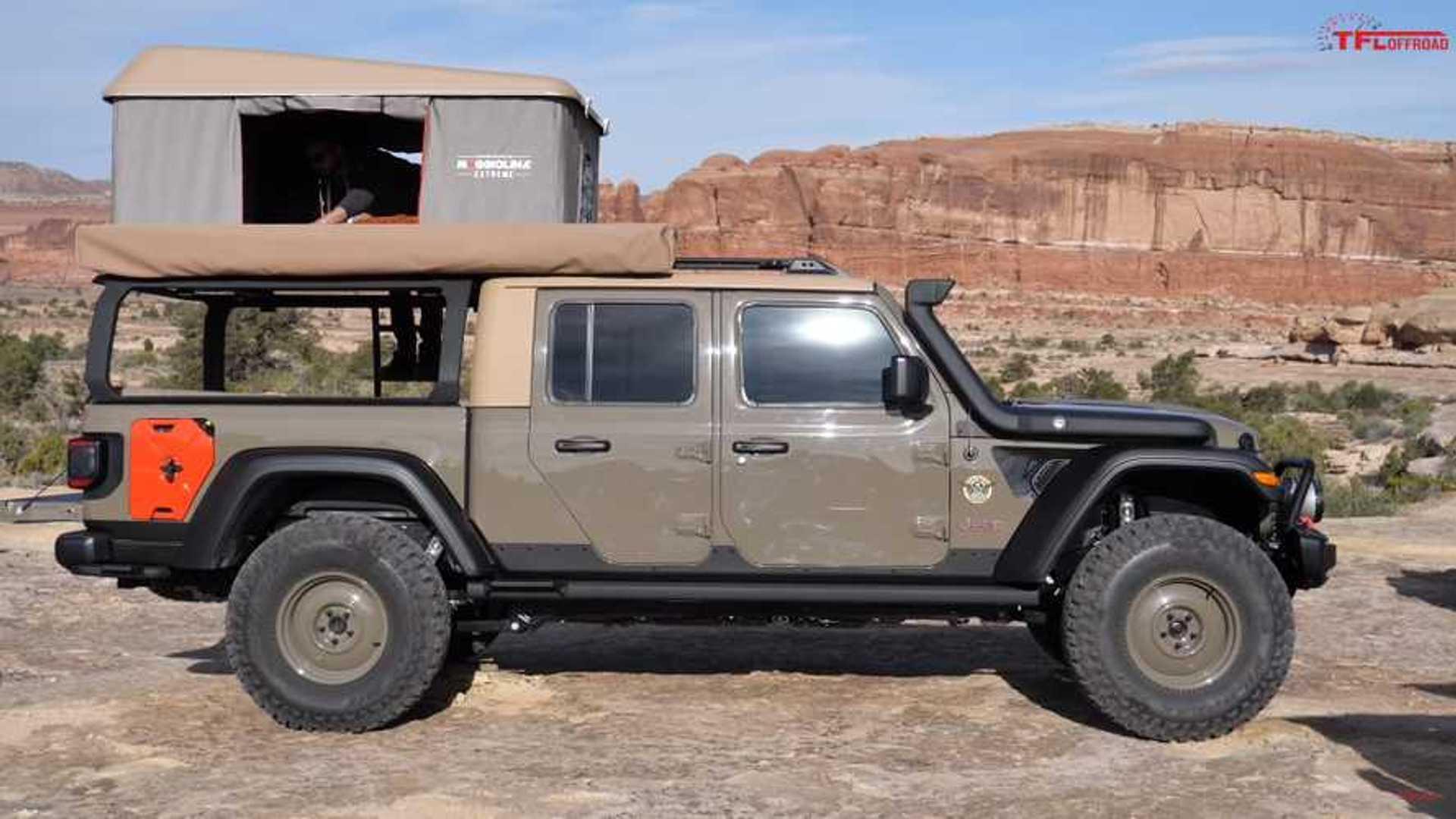 Jeep Gladiator Wayout Concept Overlander Detailed On Video