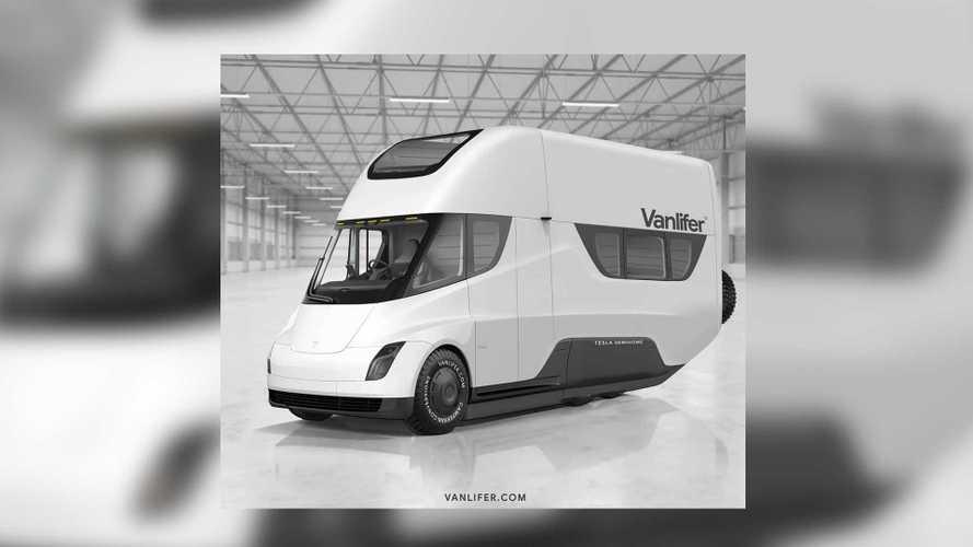 Tesla Semihome de Vanlifer, otra recreación para acampar en modo eco