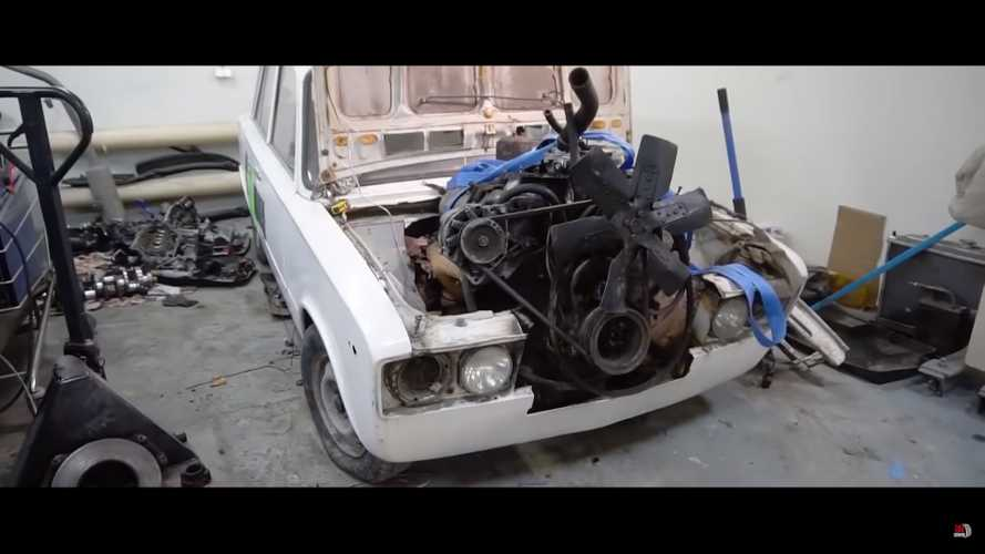 Crazy Lada V8 engine swap is everything we love about Russia