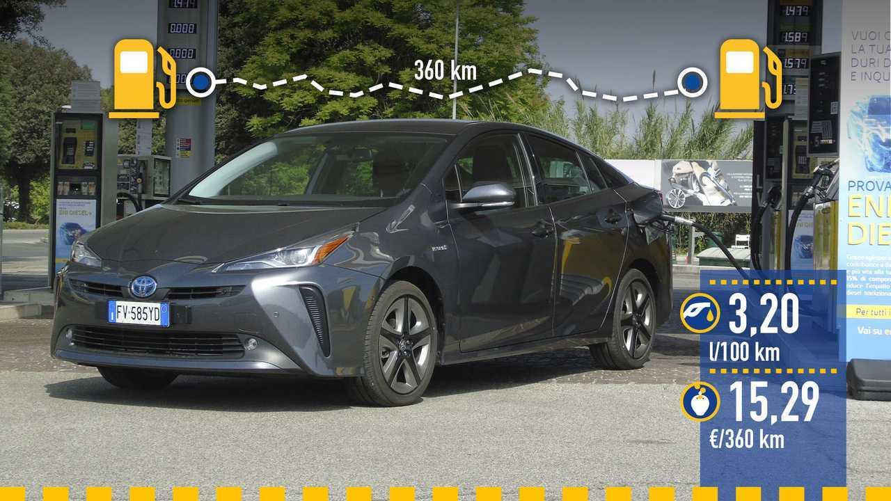 Toyota Prius AWD-i 2019, prueba de consumo