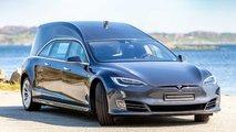 Tesla Model S, convertido en coche fúnebre