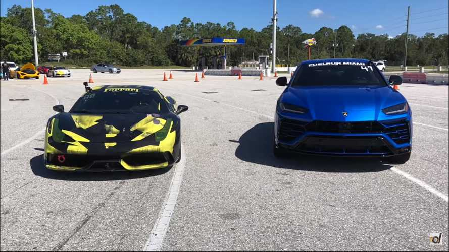 Lamborghini Urus faces off against tuned Ferrari 458 Speciale