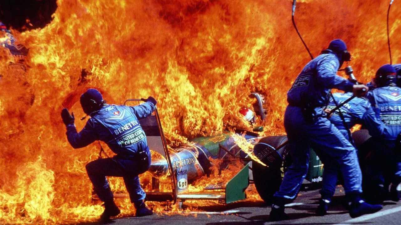 La F1 de Jos Verstappen en feu