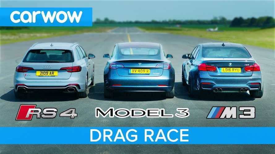 Tesla Model 3 Performance Vs BMW M3 & Audi RS4
