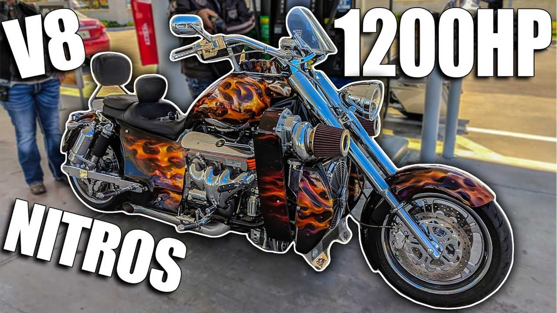 Wow! Listen To This Motorcycle's 1200hp V8 Supercharged