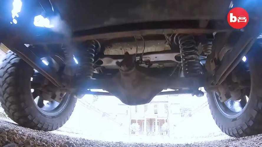 Six-wheeled Hummer H2