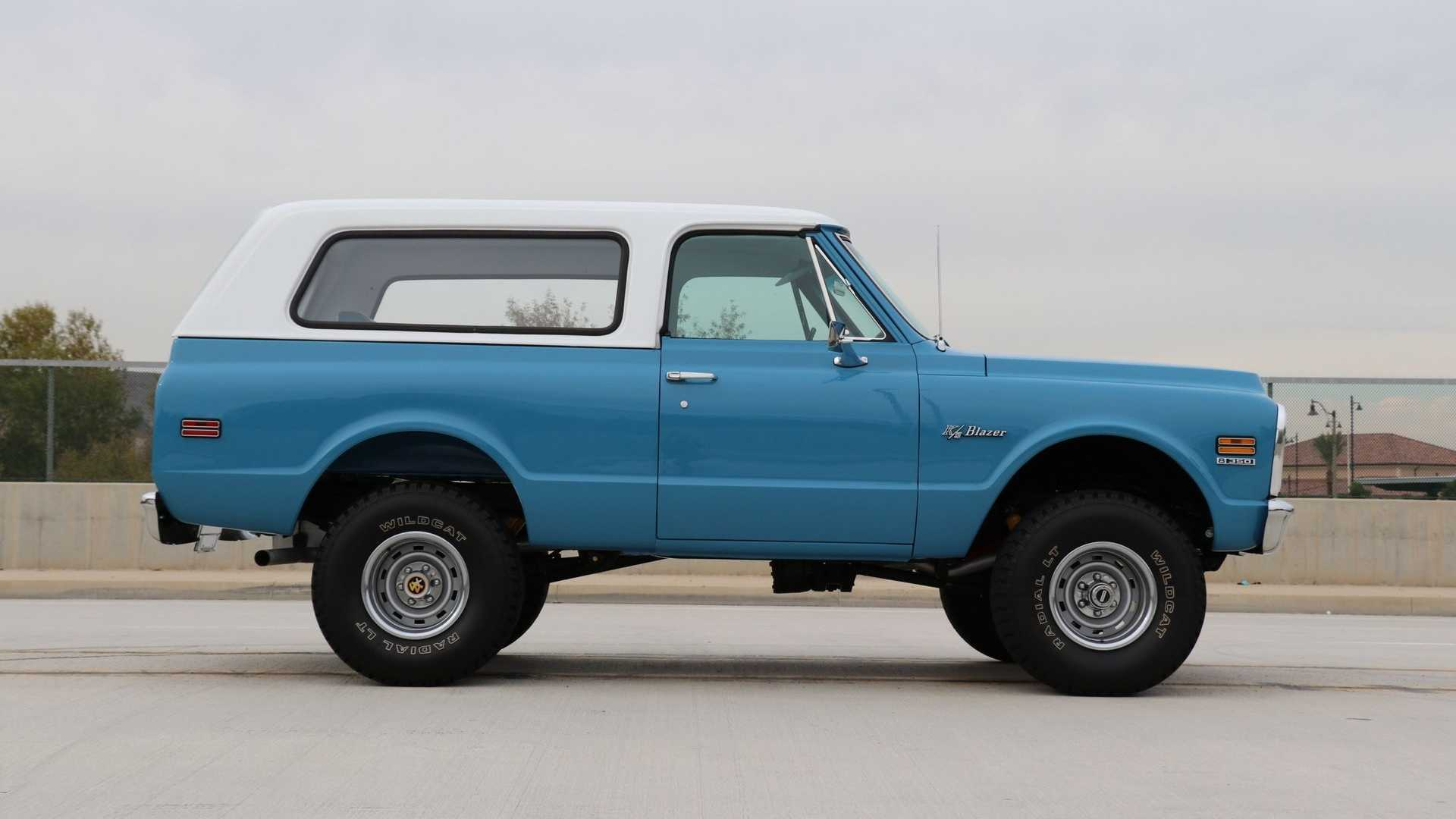 """[""""Ride Out In This Restored 1971 Chevy K5 Blazer""""]"""