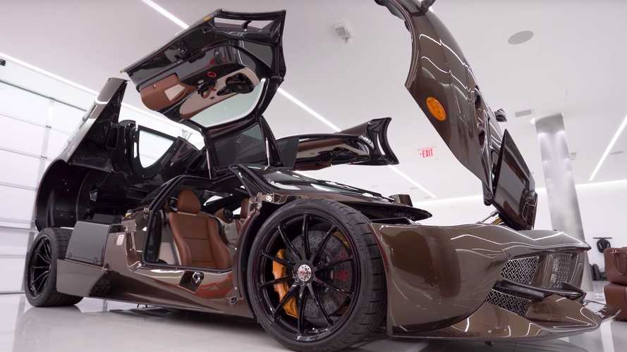 Custom Pagani Huayra Hermés Edition detailed on video