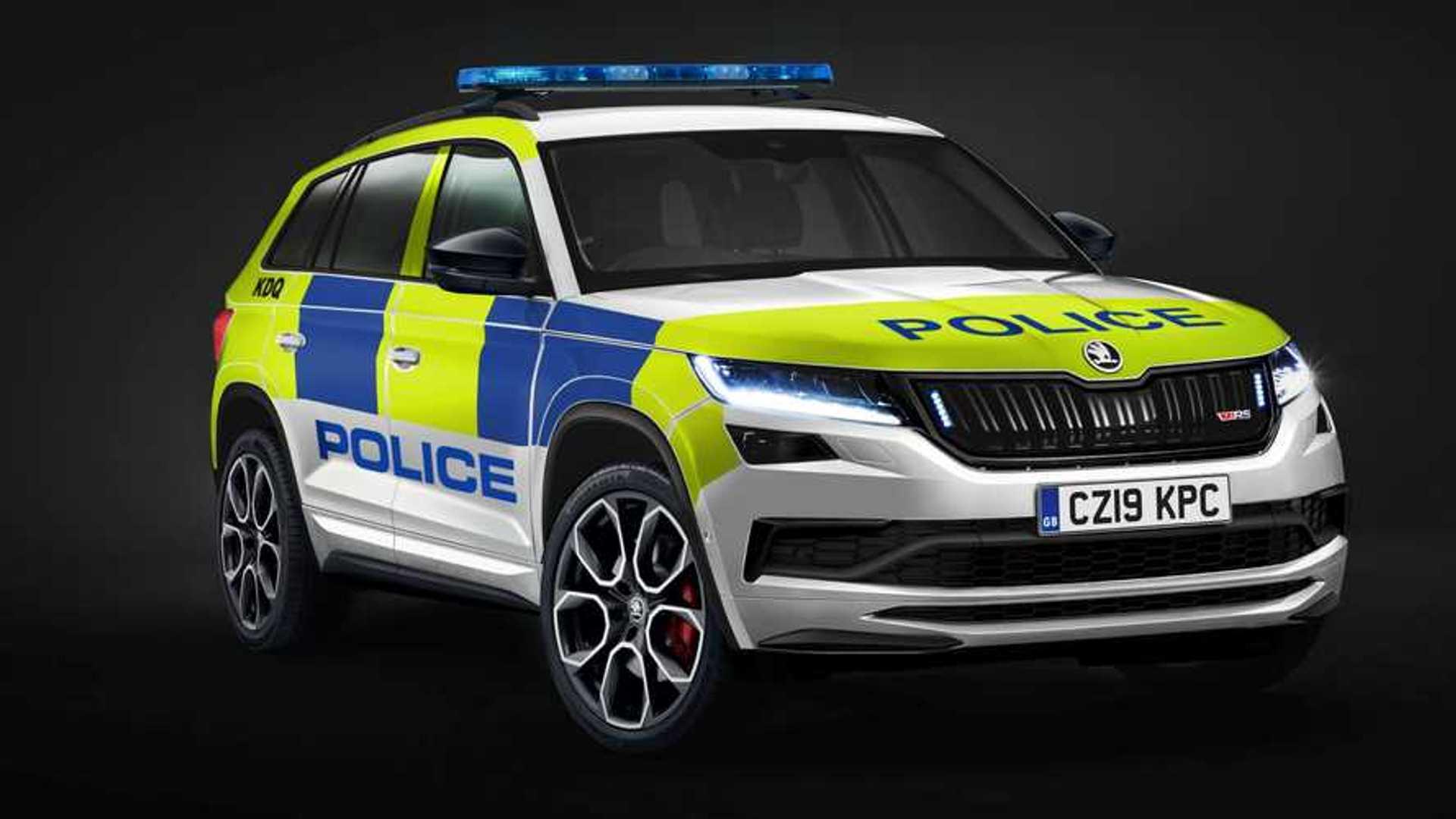 Resultado de imagen de skoda kodiaq rs police