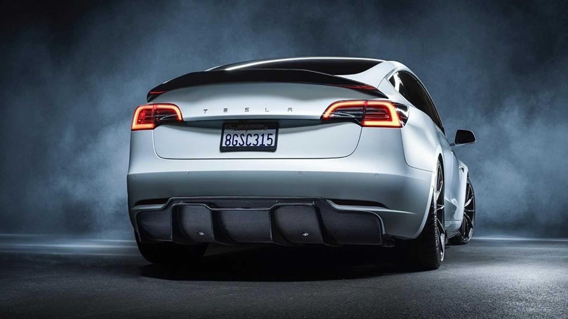 Vorsteiner Tesla Model 3 Is One Mean And Green Electric Sedan