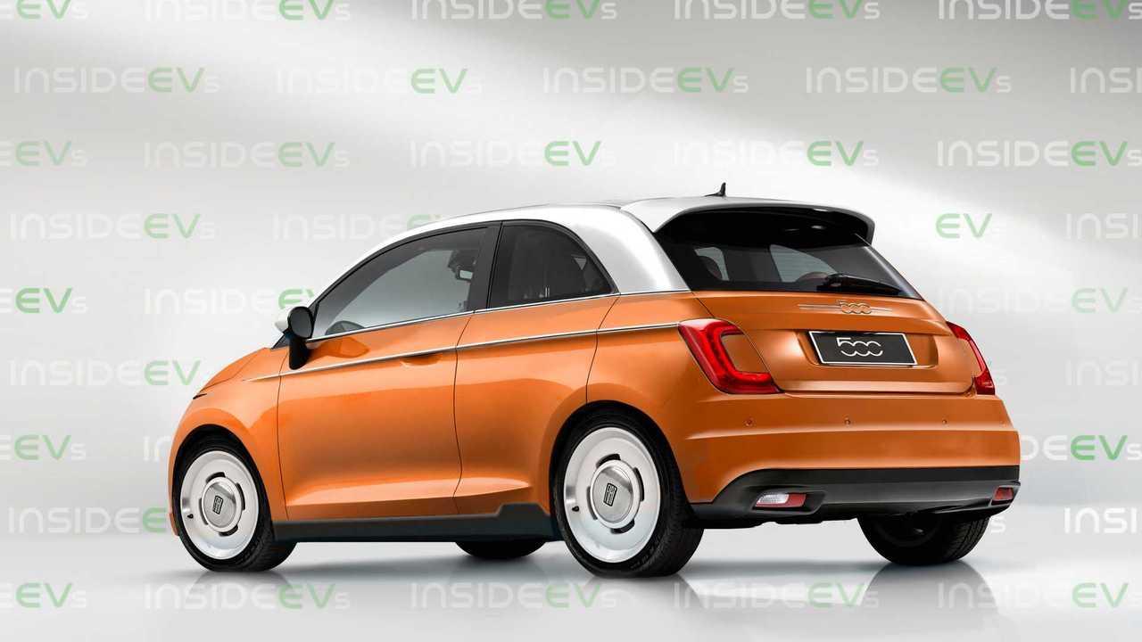 Yeni 2020 Fiat 500e Hayali Tasarımı (Render)