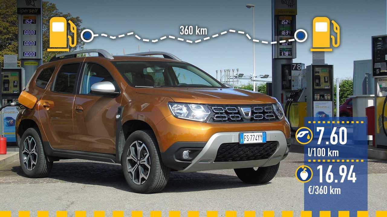 Dacia Duster GPL, la prova consumi