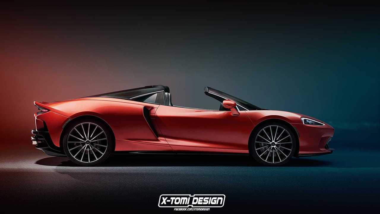 McLaren GT Spider Rendering