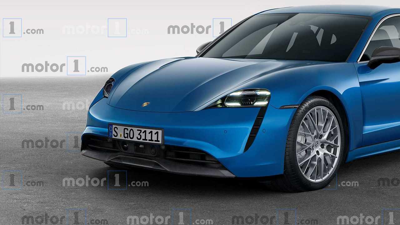 Porsche Taycan 2019, il rendering