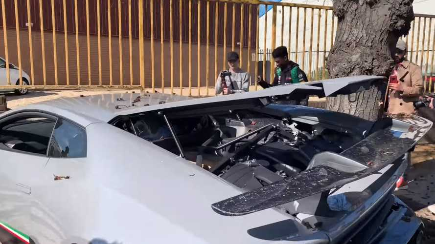 Lamborghini Huracán Performante, accidente en concentración de superdeportivos