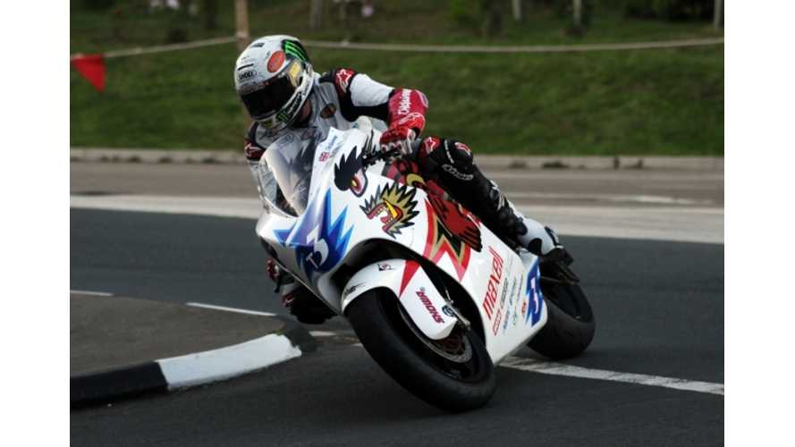 MotoCzysz and Mugen Riders Unofficially Smash SES TT Zero Lap Record at Isle of Man