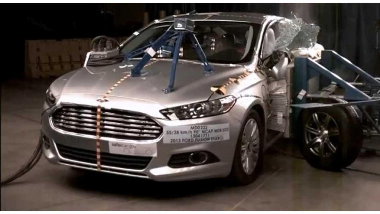 2013 Ford Fusion Energi Scores NHTSA 5-Star Crash Safety Rating