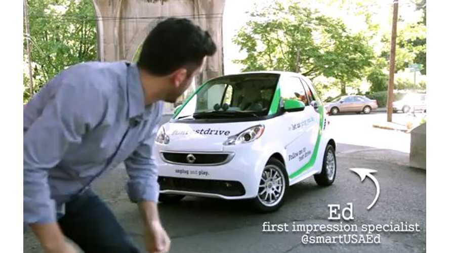 Video: Smart Pitches Fortwo Electric Drive as Our Friend Ed; The