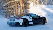 Ferrari Hybrid Test Mule Spy Shot