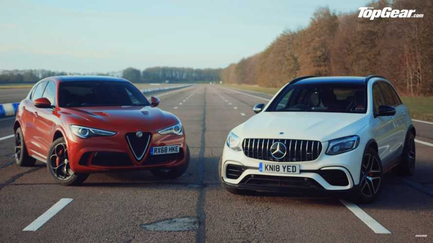 Alfa Romeo Stelvio QV faces AMG GLC 63 in Top Gear SUV drag race