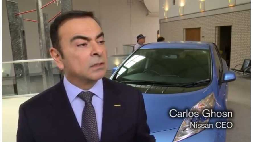 """Nissan CEO Ghosn: Still """"Working"""" On Price Of LEAF, Plus Nissan Plans New City Car With Renault (Video)"""