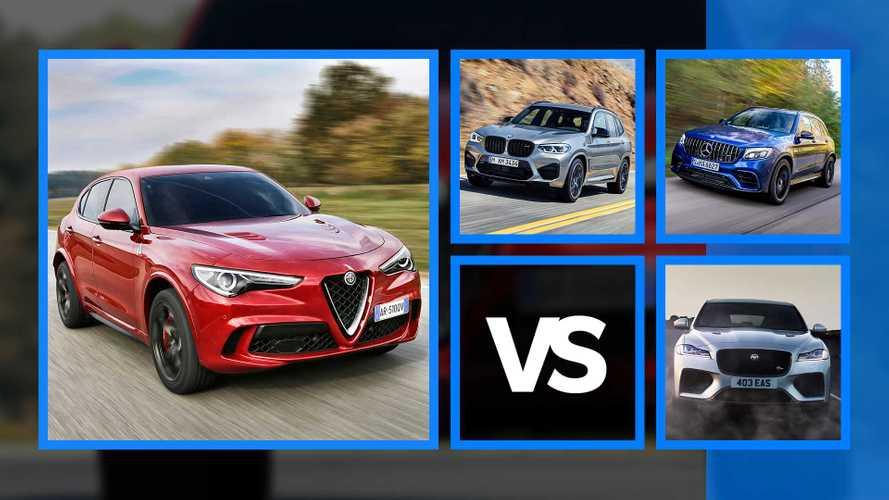 Alfa Romeo Stelvio Quadrifoglio vs BMW X3 M e gli altri Super SUV