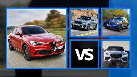 Alfa Romeo Stelvio Quadrifoglio vs. BMW X3 M y otros rivales
