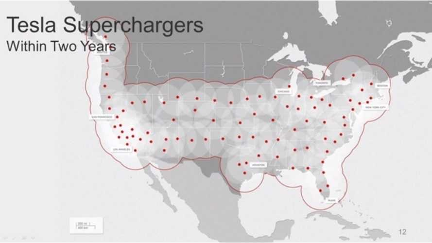Tesla Supercharger Network Expands to Include East Coast