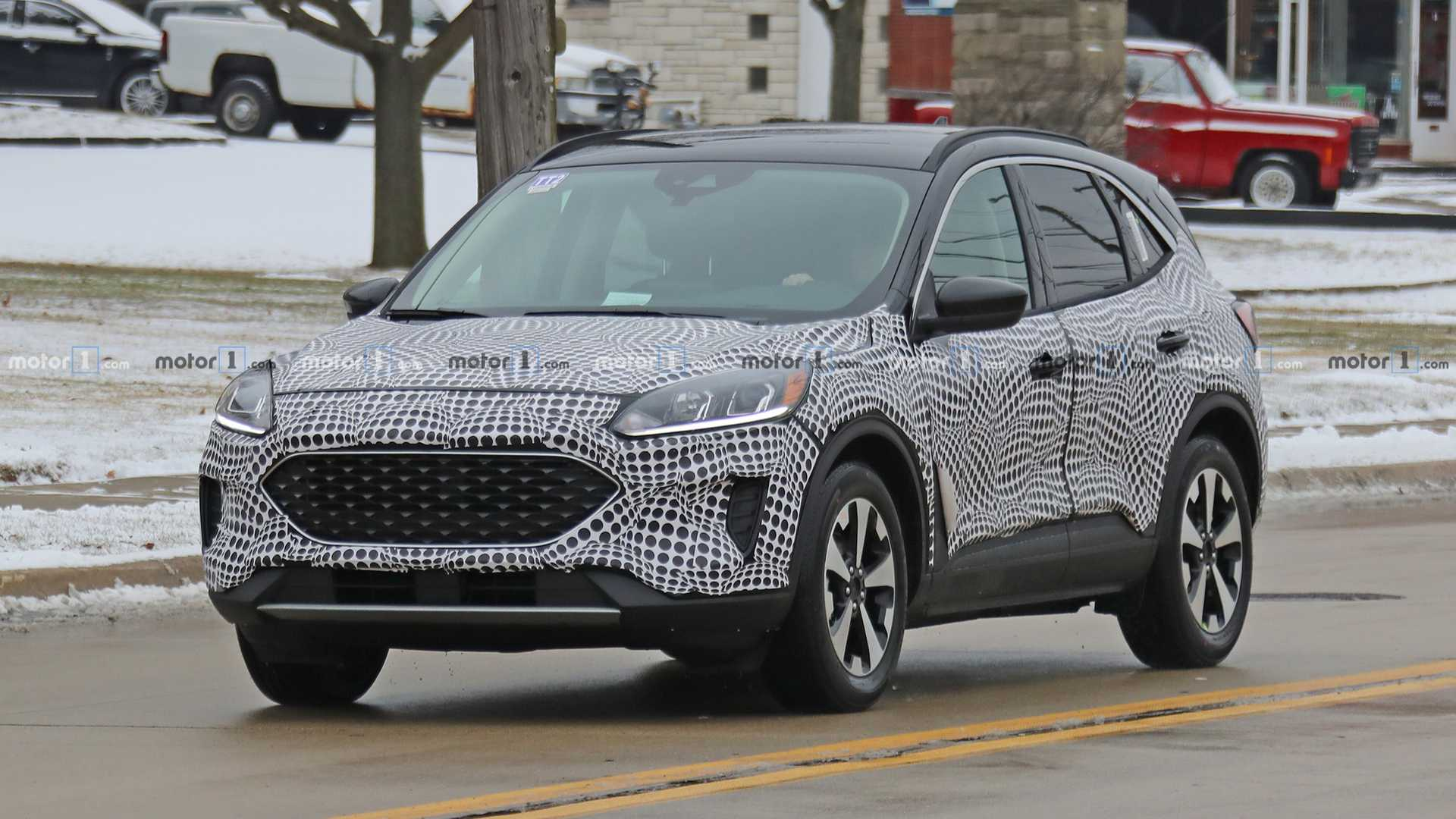 12 Ford Escape Spied Inside And Out, Hybrid Confirmed | ford escape hybrid