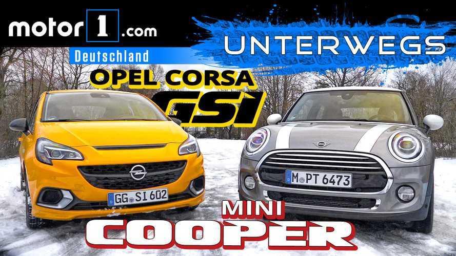 Video: Opel Corsa GSi gegen Mini Cooper 1.5 im Test