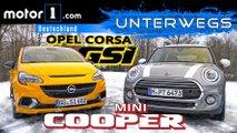 video opel corsa gsi gegen mini cooper 15 im test