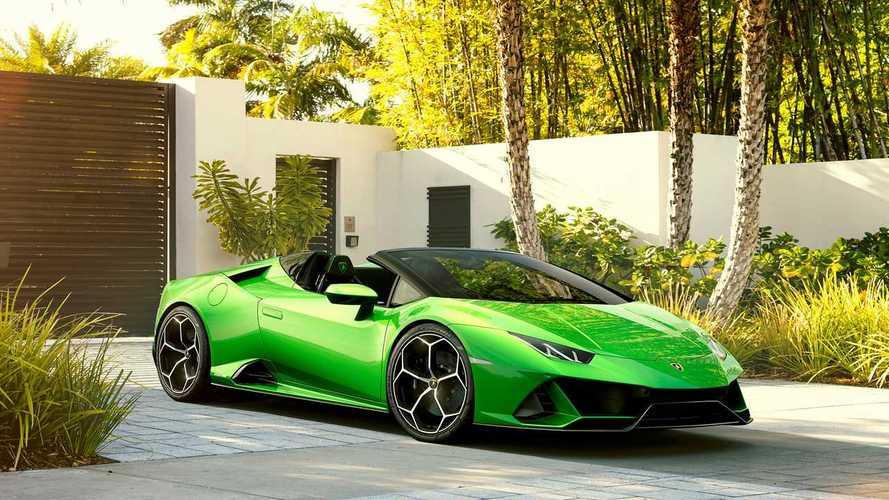 Tető nélkül is megmutatta magát a Lamborghini Huracán Evo