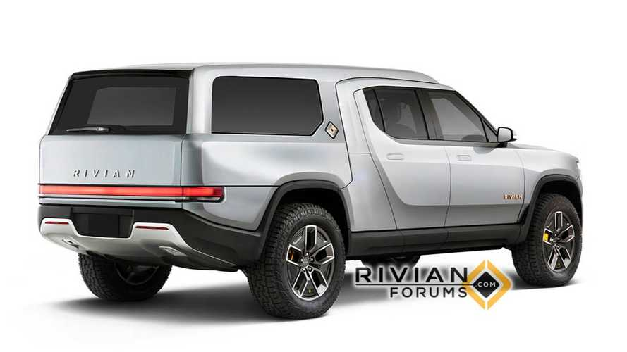 See What Rivian R1T Truck Looks Like As A Camper & Chassis Cab