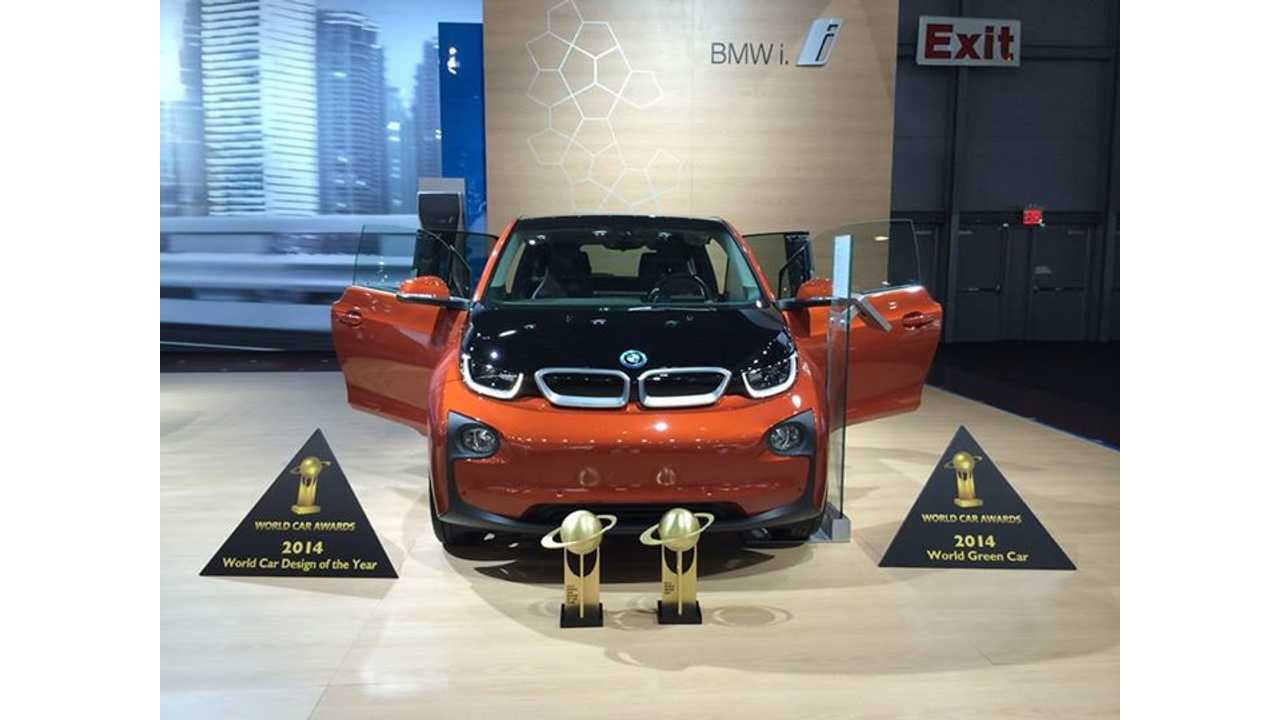 BMW i3 Awarded 2014 World Green Car And World Car Design Of The Year