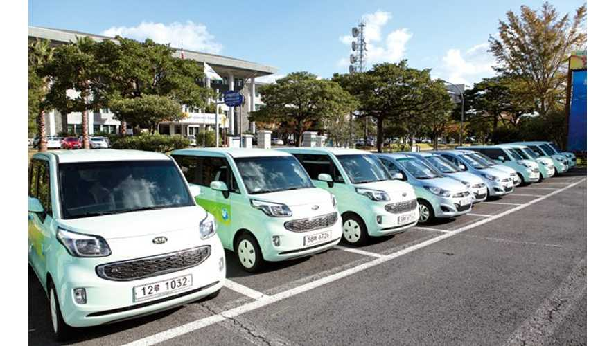 226 Subsidized Electric Vehicles Awarded To Residents Of Jeju Island