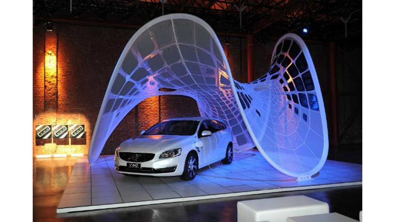 Volvo Debuts World's Most Useless Solar Canopy Plug-In Vehicle Charger