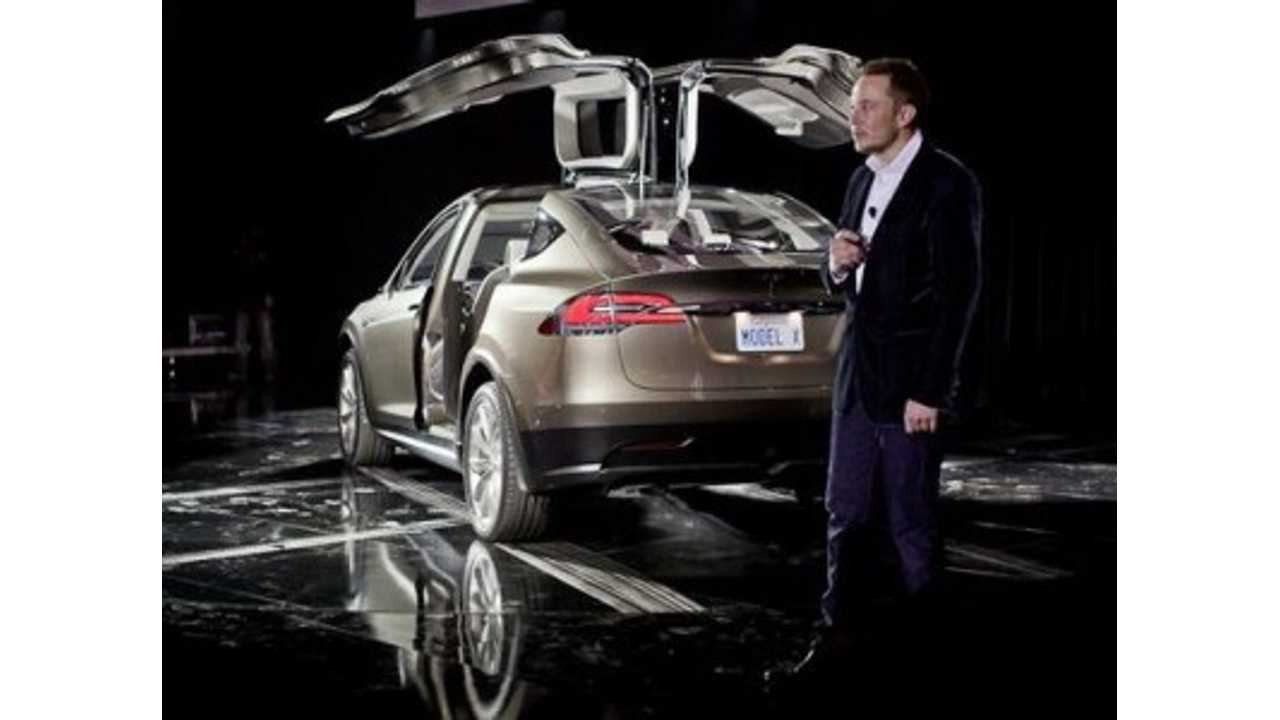 Deal With Samsung SDI Would See Cells Being Delivered At The End Of 2014 As The Model X Is Launched