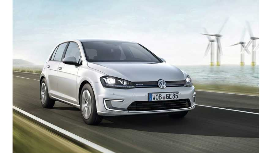 Volkswagen Launches e-Golf With Price of 34,900 Euros in Germany - Undercuts BMW i3 by 50 Euros