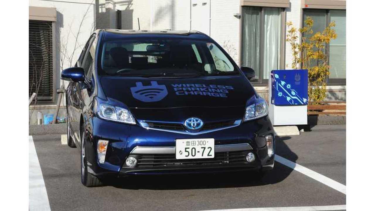 Toyota Begins Wireless Charging Verification Tests Using Prius Plug-In Hybrid (w/video)