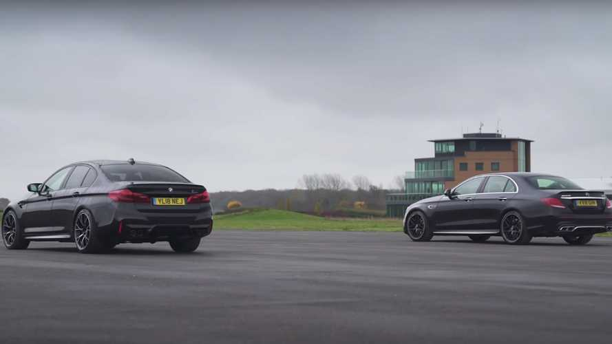 Mercedes-AMG E 63 S Finally Drag Races BMW M5 Competition