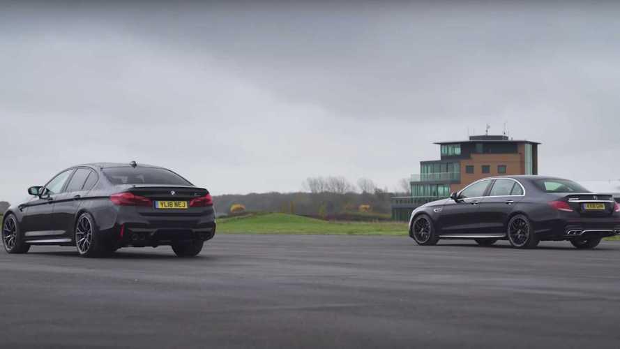 AMG E63 S, nihayet BMW M5 Competition ile drag yarışına girmiş
