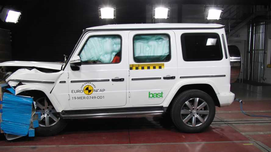 Watch The G-Class Crash Its Way To 5-Star Euro NCAP Rating