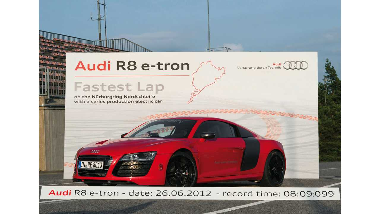 For a Very Short Time, the Audi R8 E-tron Held the Fastest Lap Title For EVs at the Nurburgring