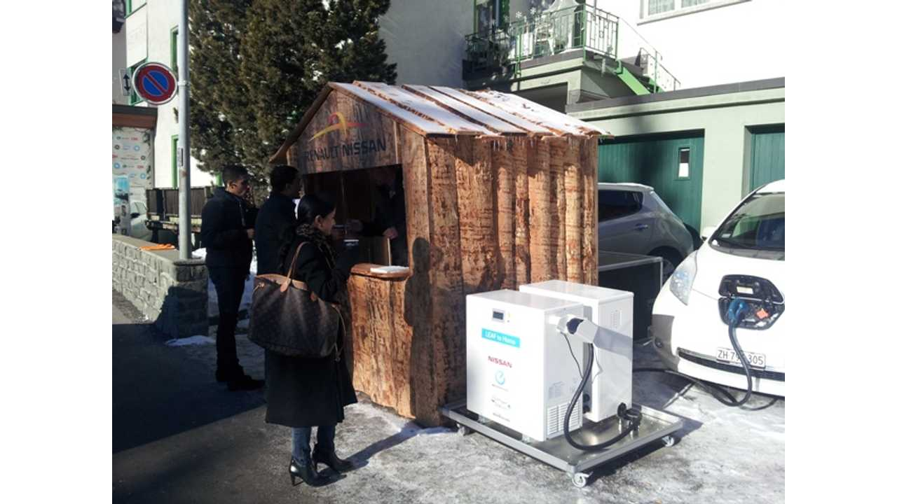 In Davos, Nissan LEAF Is Giving Visitors a Warm Glow